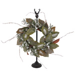 WR258 frosted pinecone wreath