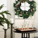 WR439 mixed greenery wreath