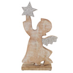 XD212 Beaded Wooden Angel