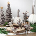"XD107 handmade christmas tree-18""h"