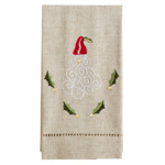 XM753 Embroidered and Hemstitched Santa Guest Towel