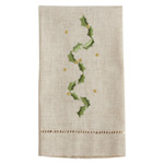 XM754 Embroidered and Hemstitched Vine Guest Towel
