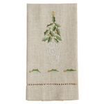 XM759 Embroidered and Hemstitched Topiary Guest Towel